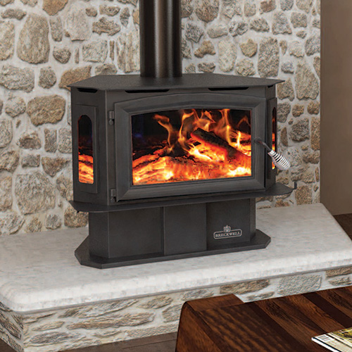 SW180 Bay Wood Stove With Pedestal