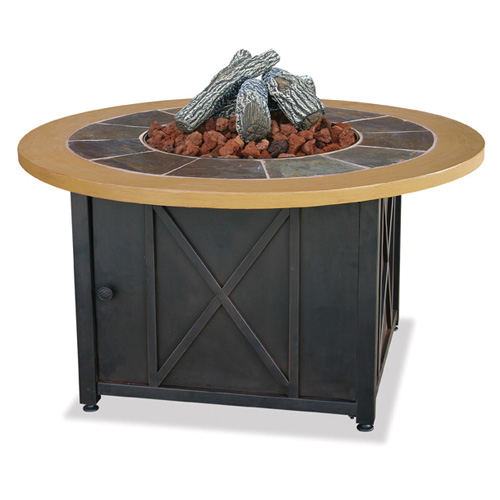 Fire Pit With Optional Log Kit